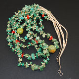Vintage Turquoise Santa Domingo Nugget & Heishe Necklace