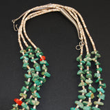 Santa Domingo Turquoise & Heishe Necklace