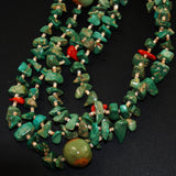 Vintage Turquoise Nugget & Heishe Necklace