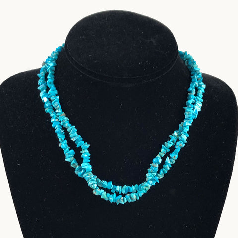 Vintage Turquoise & Sterling Necklace