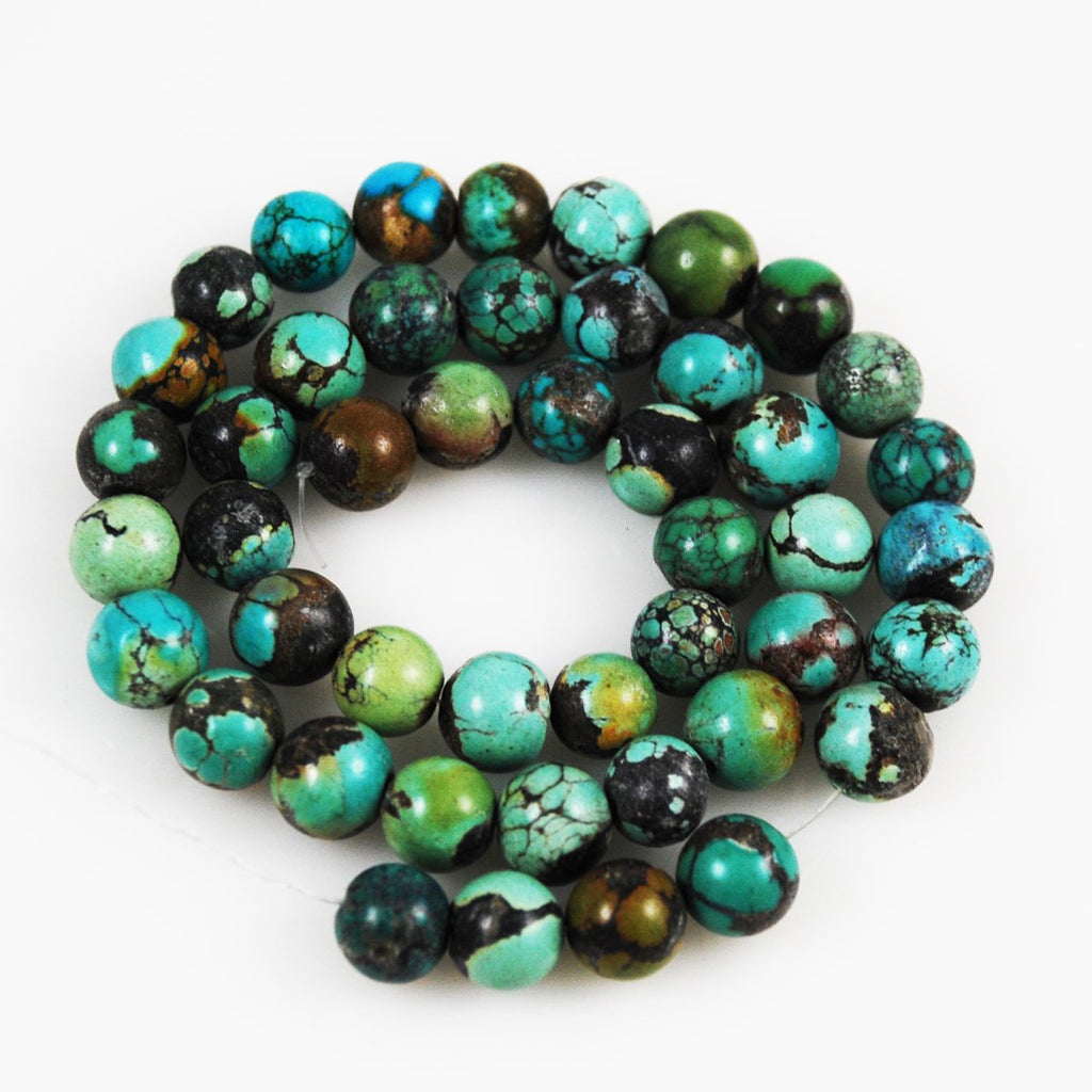 Natural Turquoise Round Beads