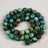Turquoise Round Beads 9mm Natural