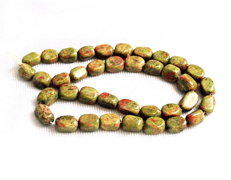 Unakite Rectangle Nugget Bead Strands