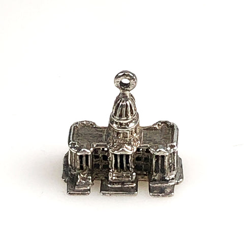 US Capitol Sterling 3D Charm