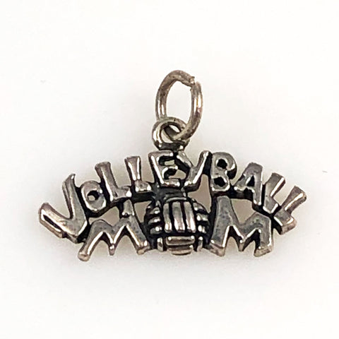 Volleyball Mom Sterling Silver Vintage Charm