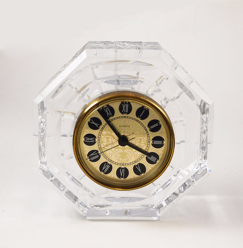 Waterford Crystal Lismore Mantle or Desk Clock