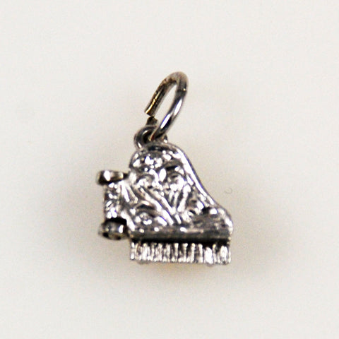 Sterling Grand Piano Charm Vintage