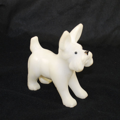 Alabaster Carved Dog Figurine