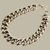 Chunky white gold curb bracelet