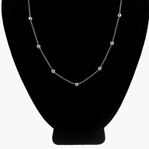 14K Italian White Gold Chain Milor Necklace