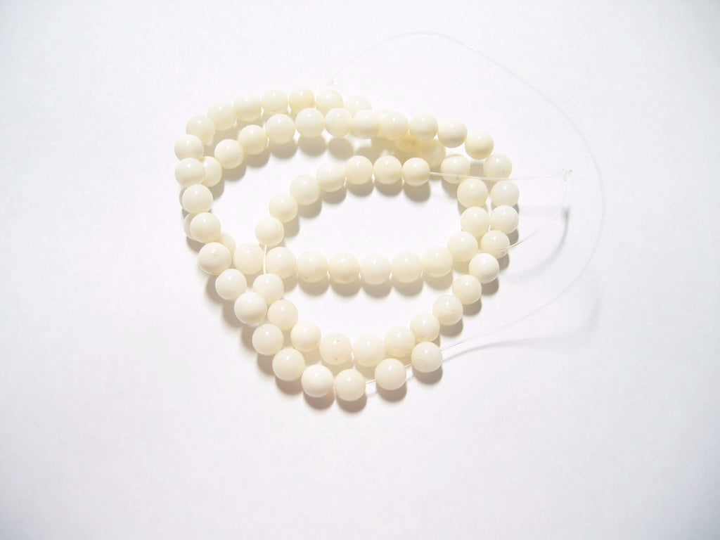 White Coral Round Strands Natural Vintage