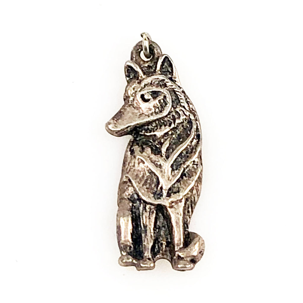 Sterling Wolf Pendant