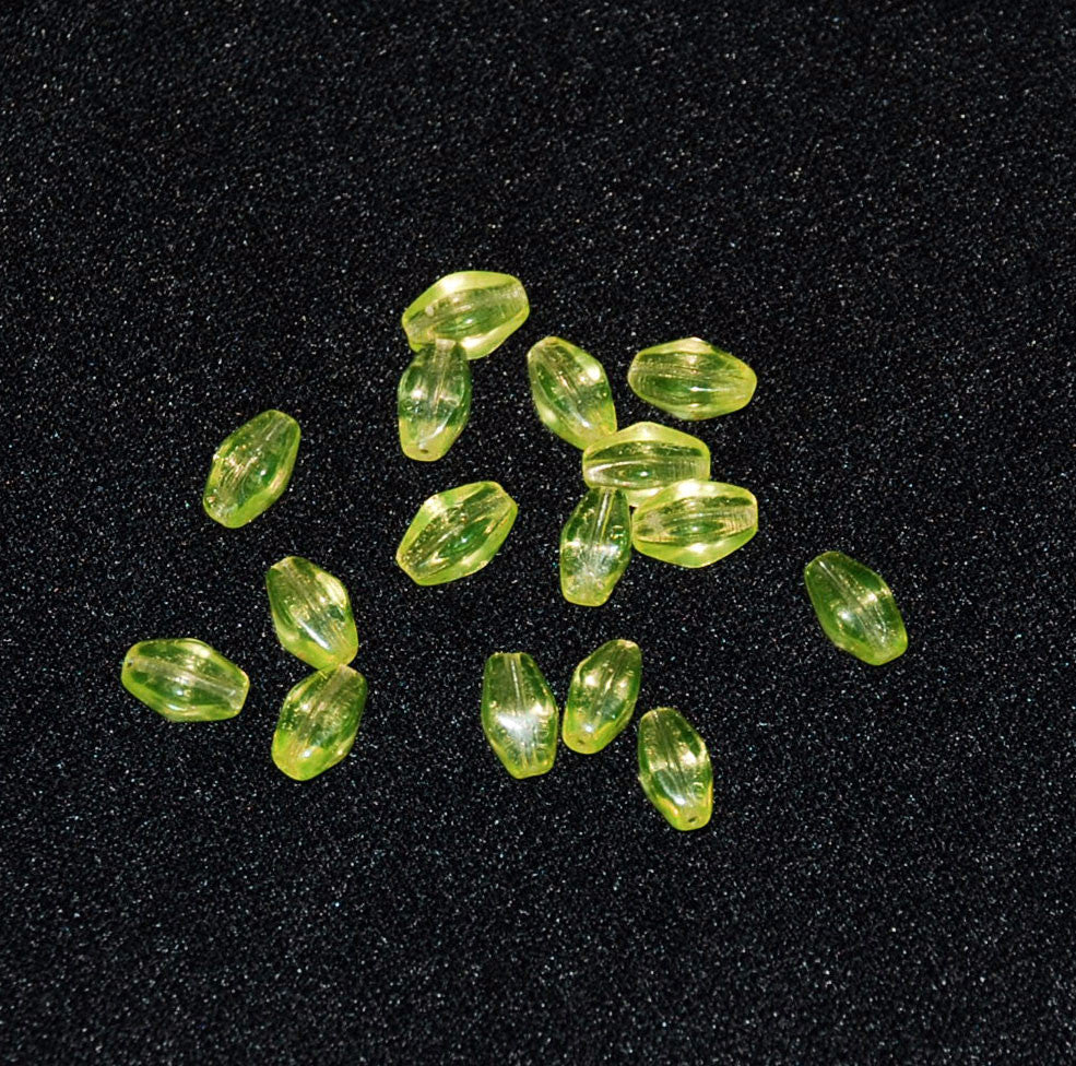 Yellow Glass Diamond Beads