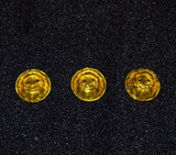 Yellow Glass Buttons Antique