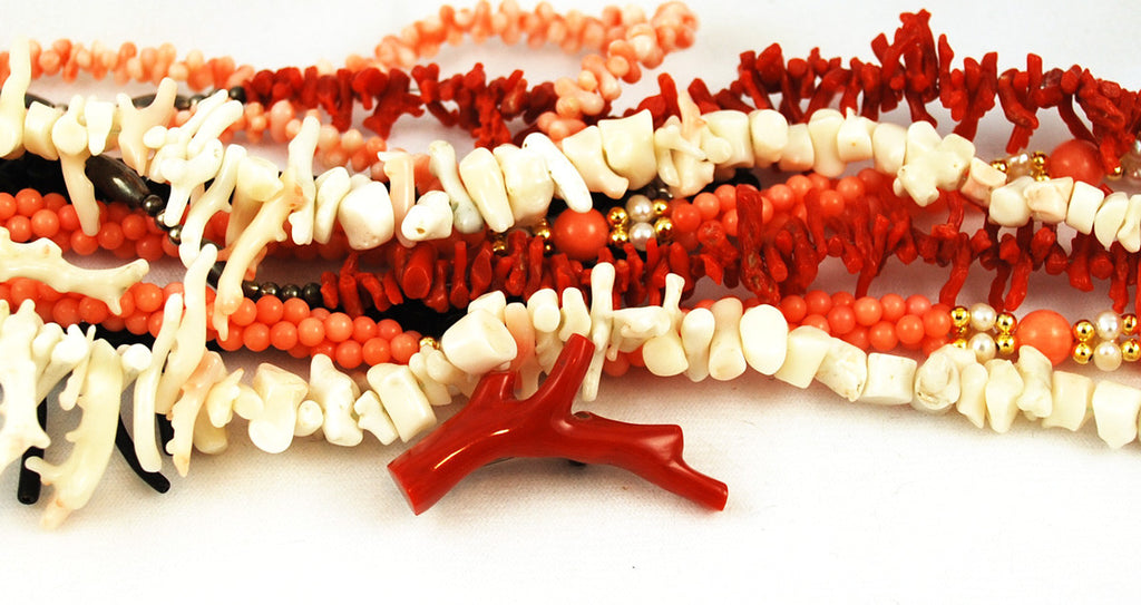 Coral Beads and Jewelry