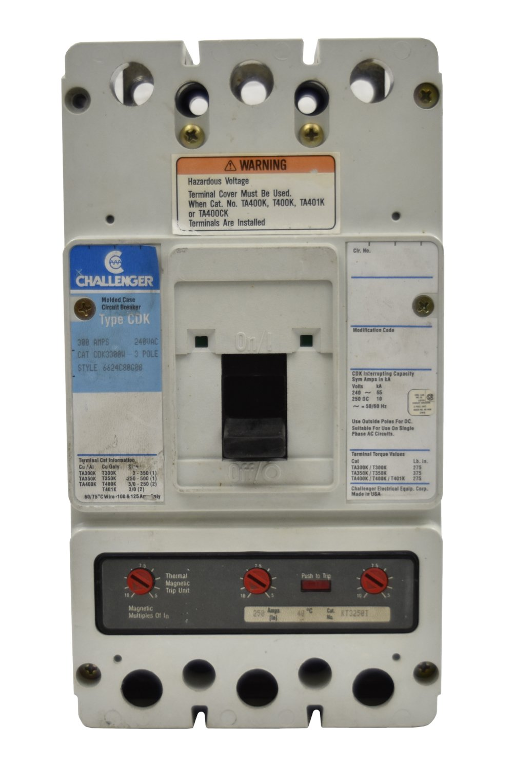 Challenger CDK3400 Circuit Breakers