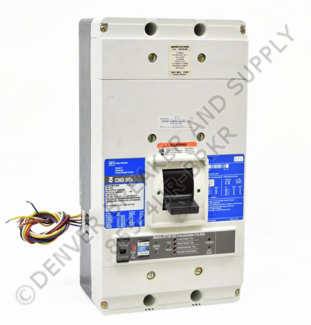 Cutler Hammer CND2800T33W Circuit Breakers