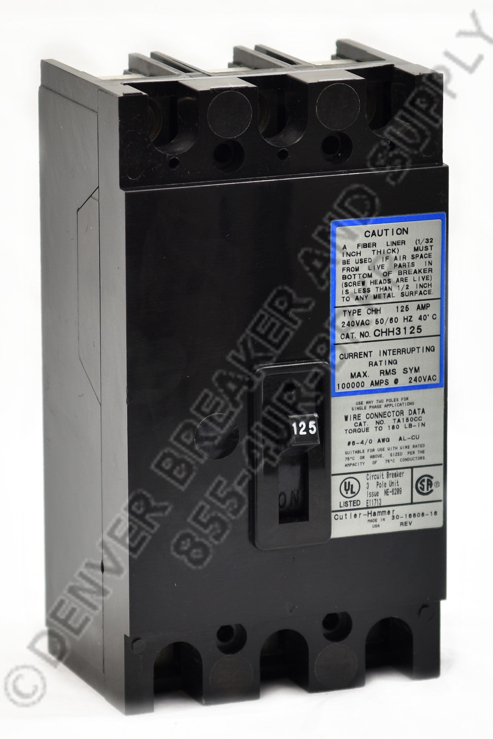 cutler hammer cch3150x circuit breakers molded case denver breakercutler hammer cch3150x circuit breaker