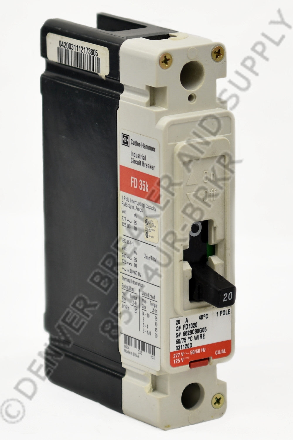 Cutler Hammer FD1020 Circuit Breakers