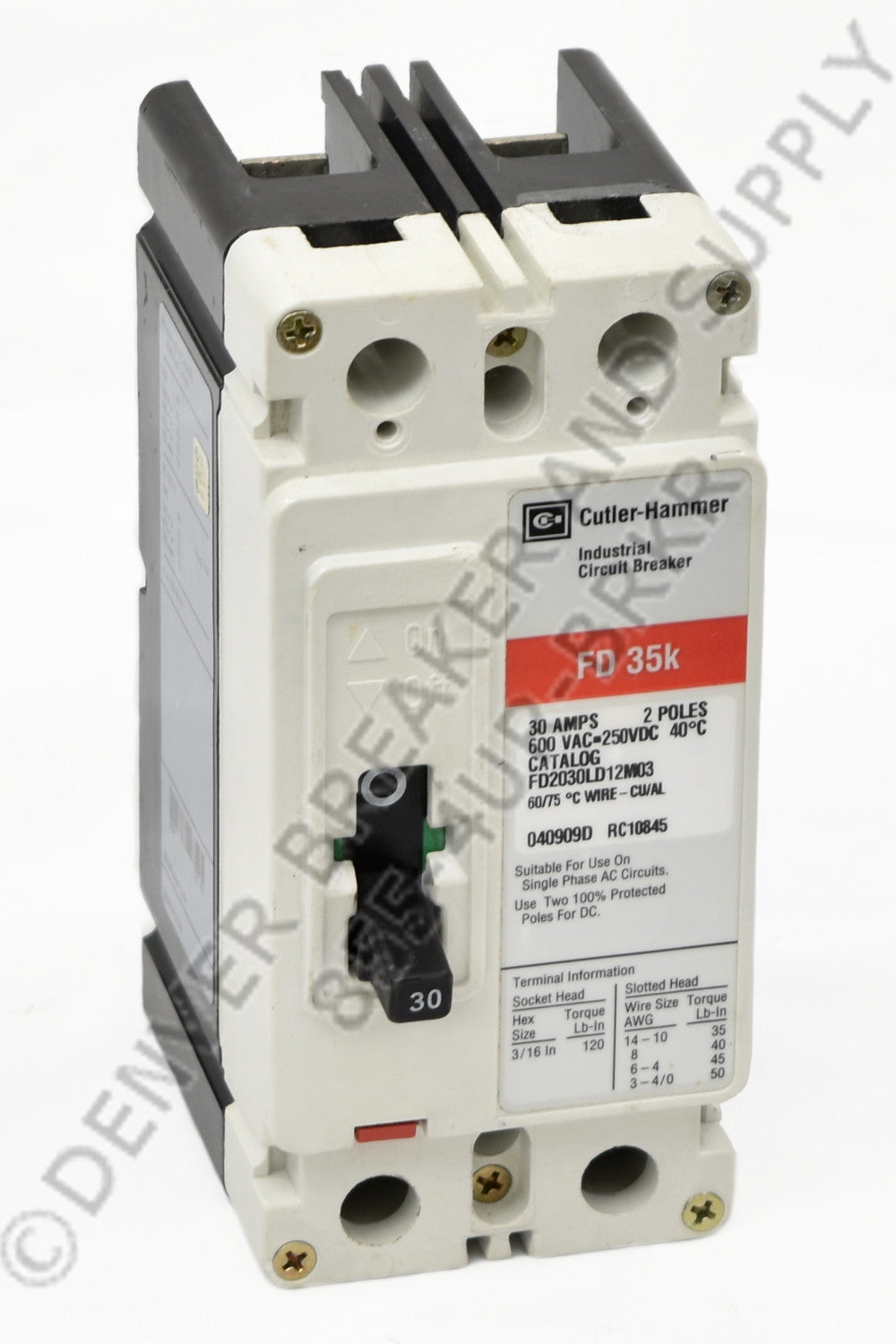 Cutler Hammer FD2080 Circuit Breakers