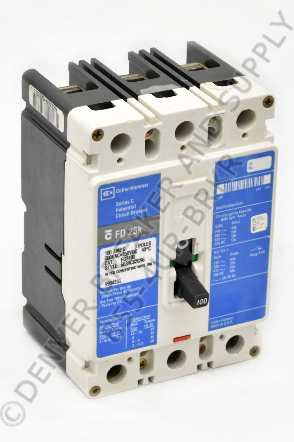 Cutler Hammer FD3125 Circuit Breakers
