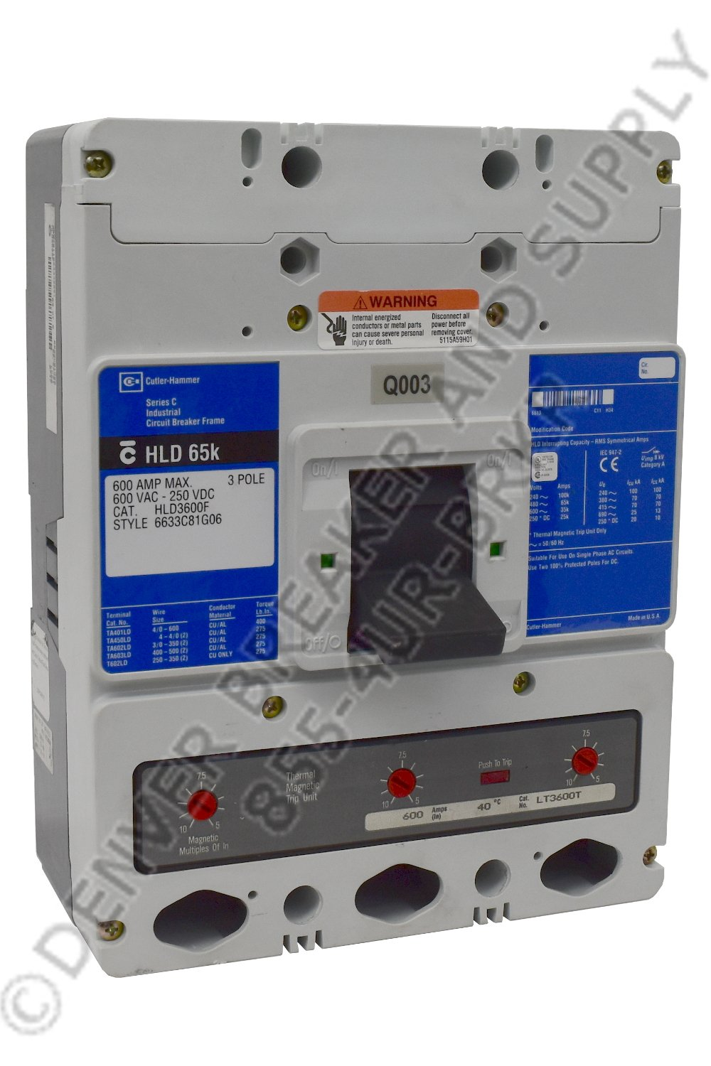 Cutler Hammer CHLD3600 Circuit Breakers