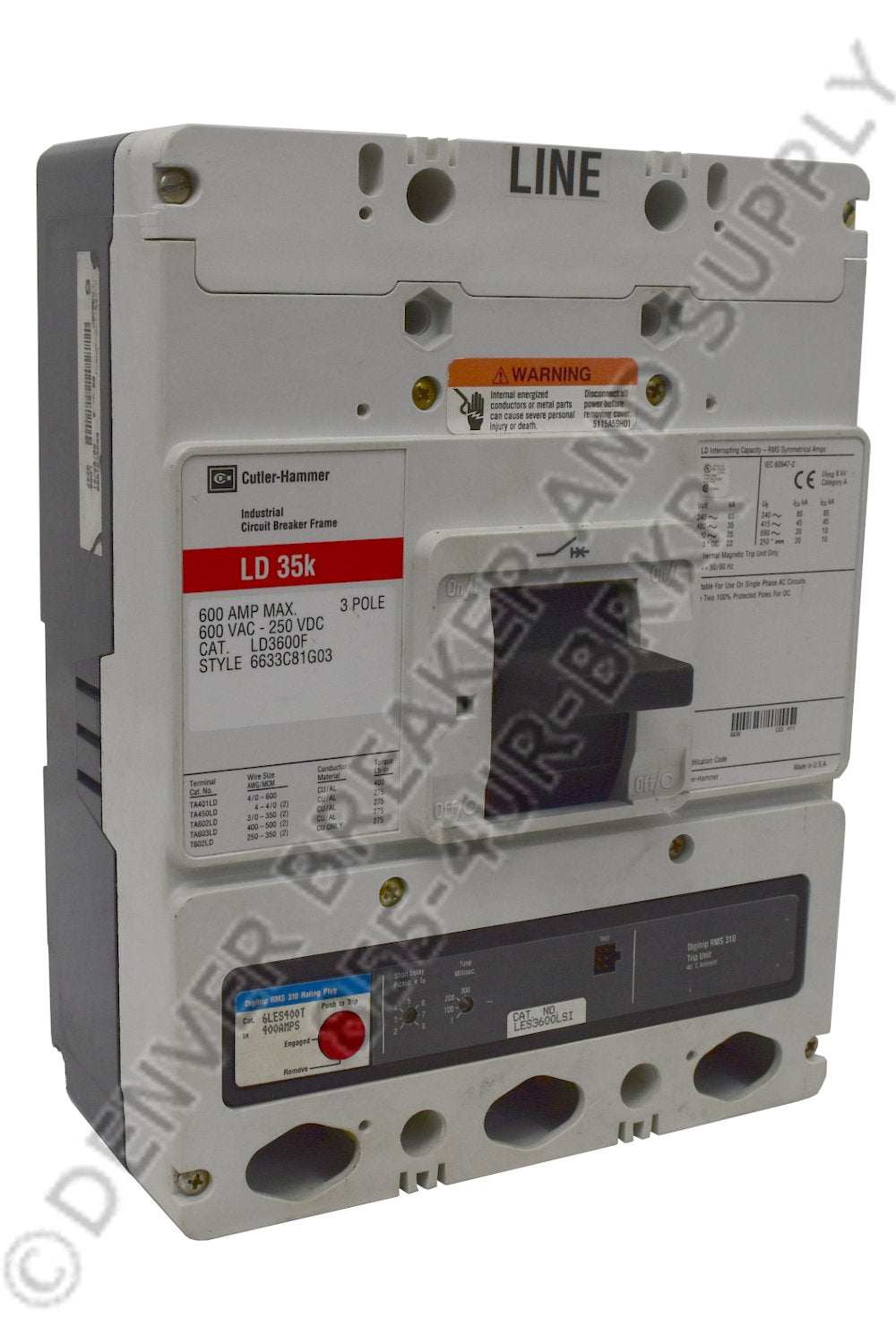 Cutler Hammer CLD3600 Circuit Breakers