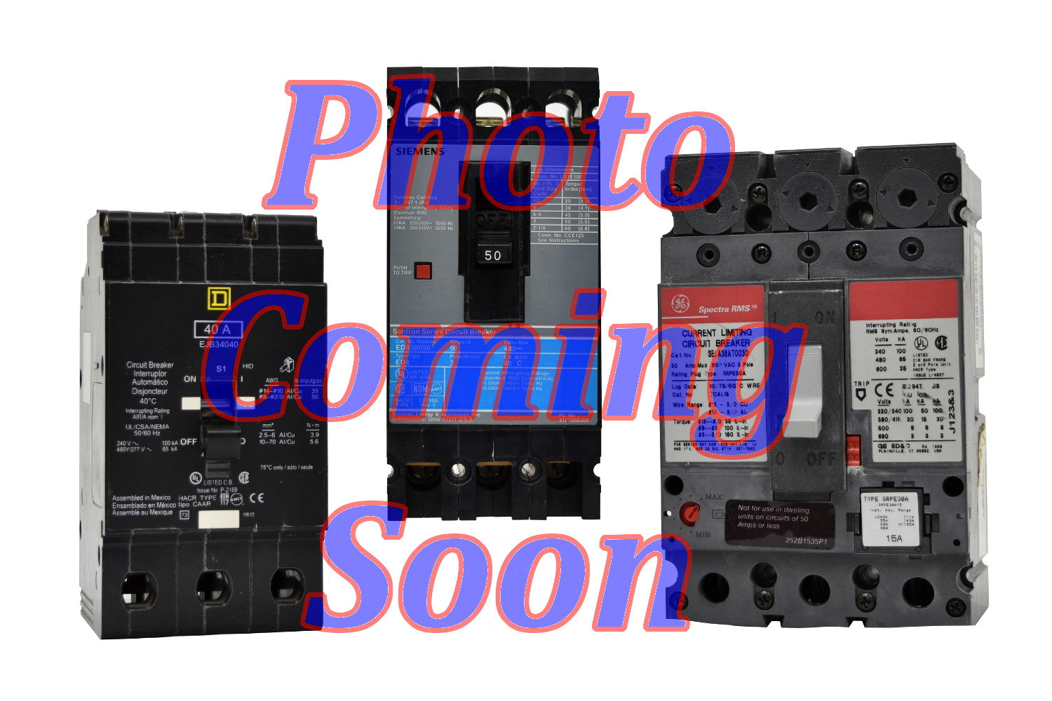 Cutler Hammer CDH3100 Circuit Breakers