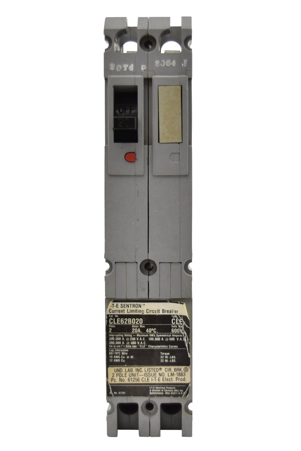 Siemens CLE62B015 Circuit Breakers