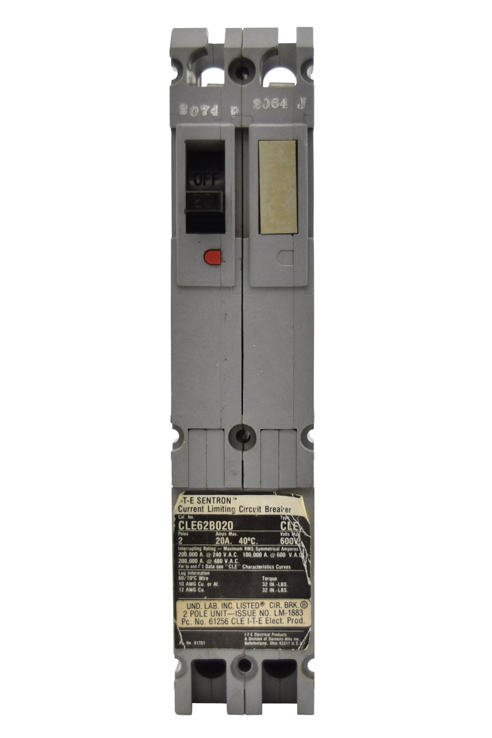 Siemens CLE62B100 Circuit Breakers