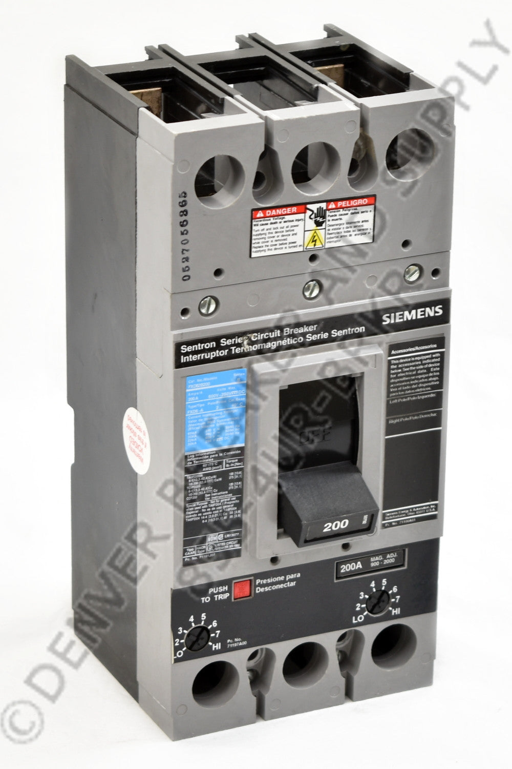 Siemens FD63B200 Circuit Breakers