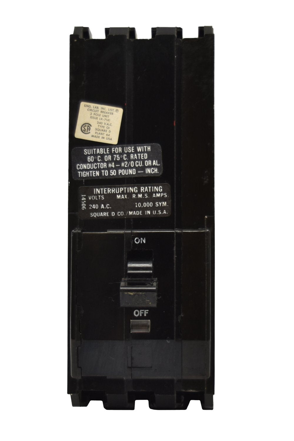 Square D Q1340 Circuit Breakers Molded Case