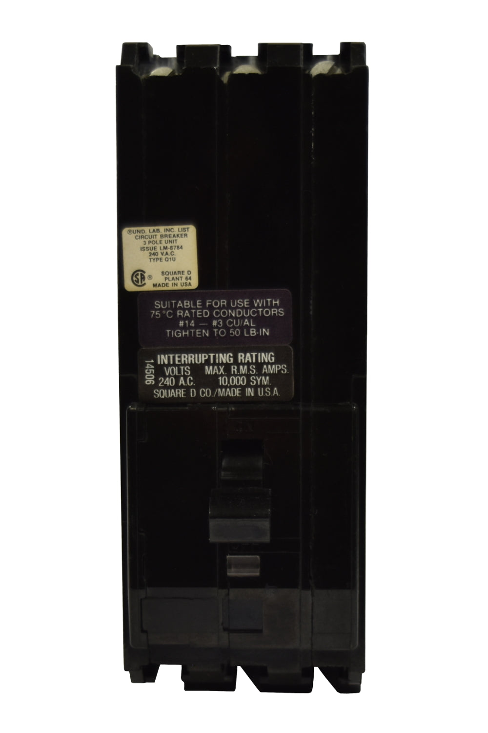 Square D Q1U370 Circuit Breaker
