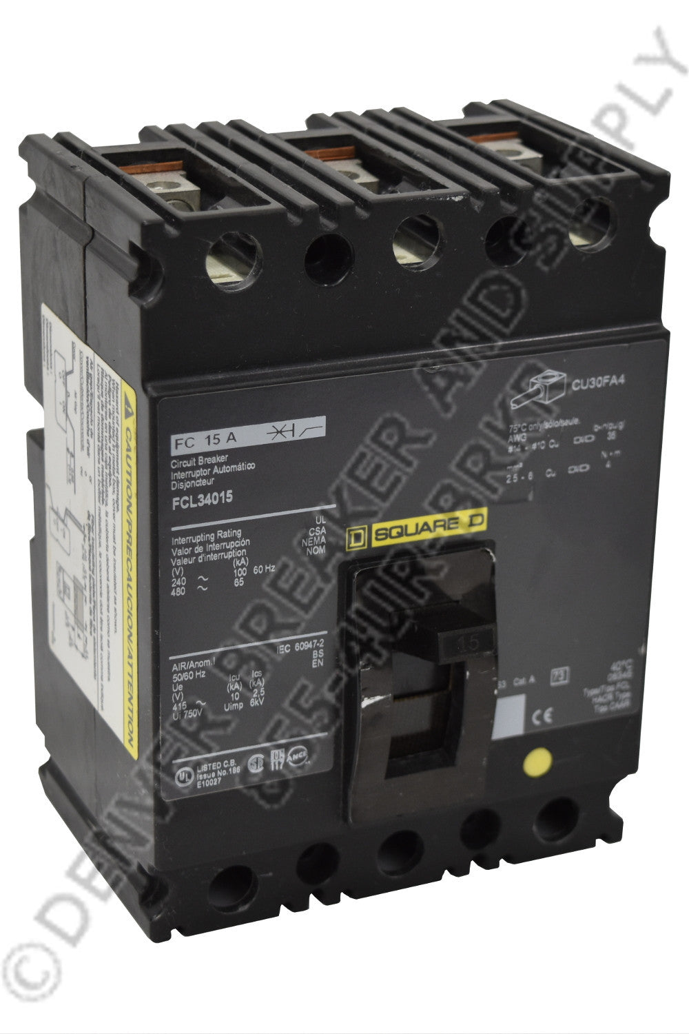 Square D FCP34100 Circuit Breakers