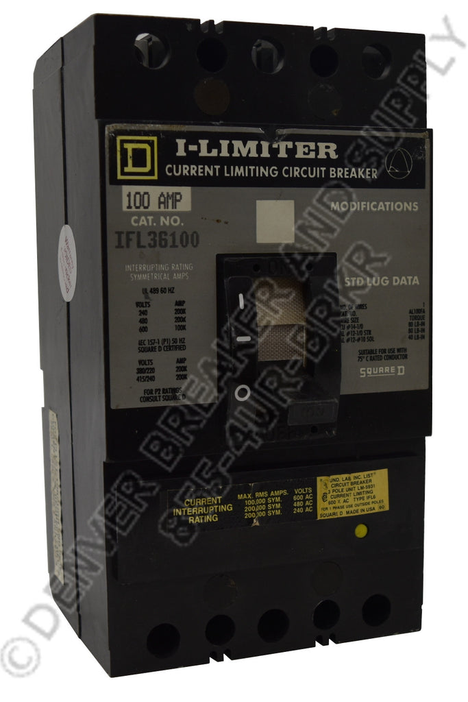 Square D IFL36100 Circuit Breaker