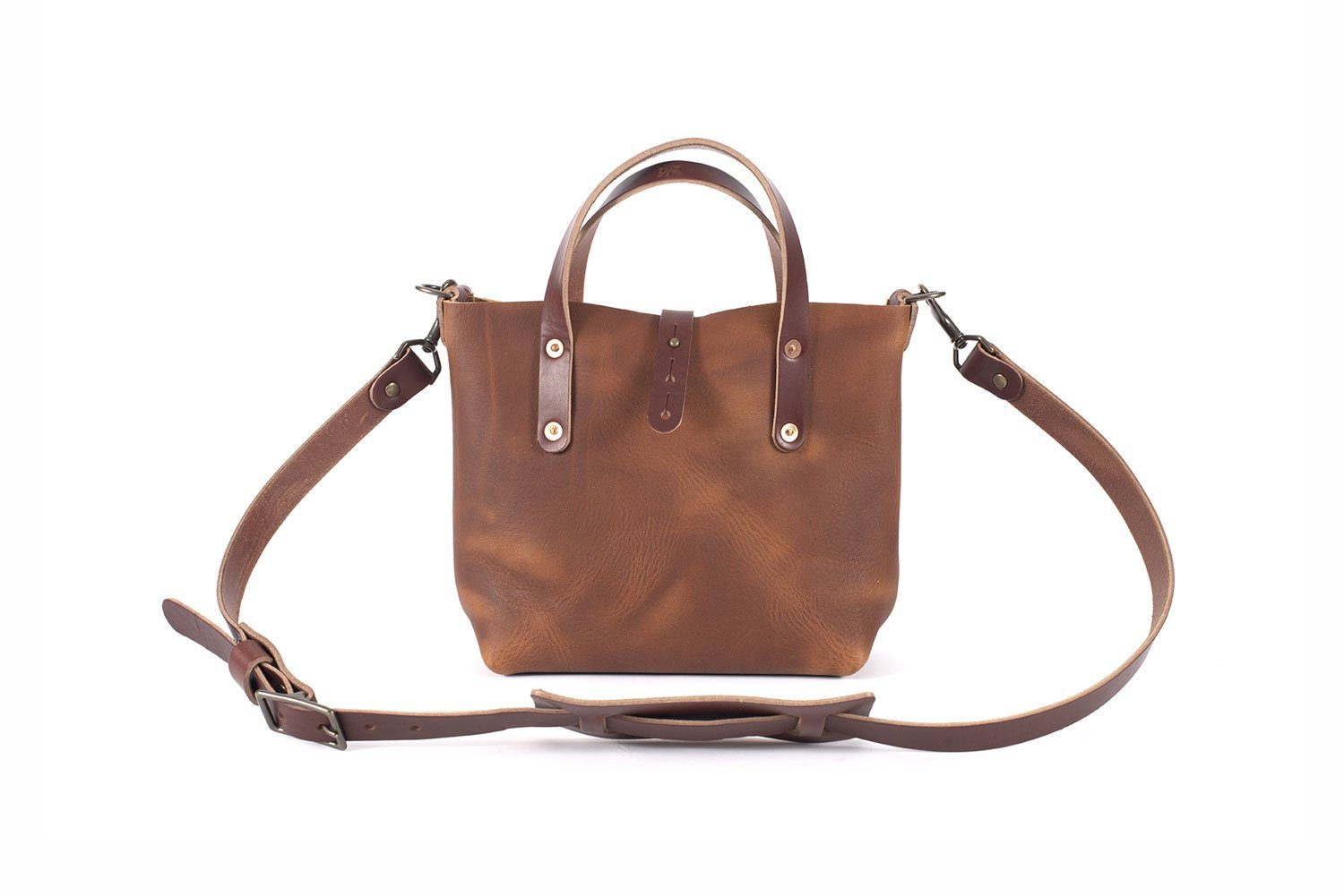 AVERY LEATHER TOTE BAG - MINI CROSSBODY