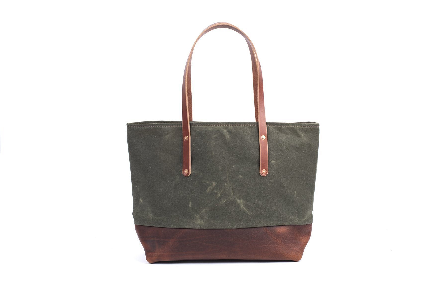 AVERY WAXED CANVAS TOTE BAG - LARGE
