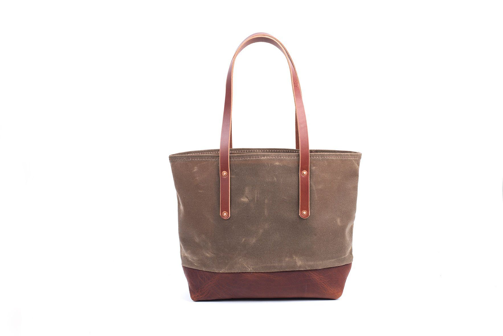AVERY WAXED CANVAS TOTE BAG - MEDIUM