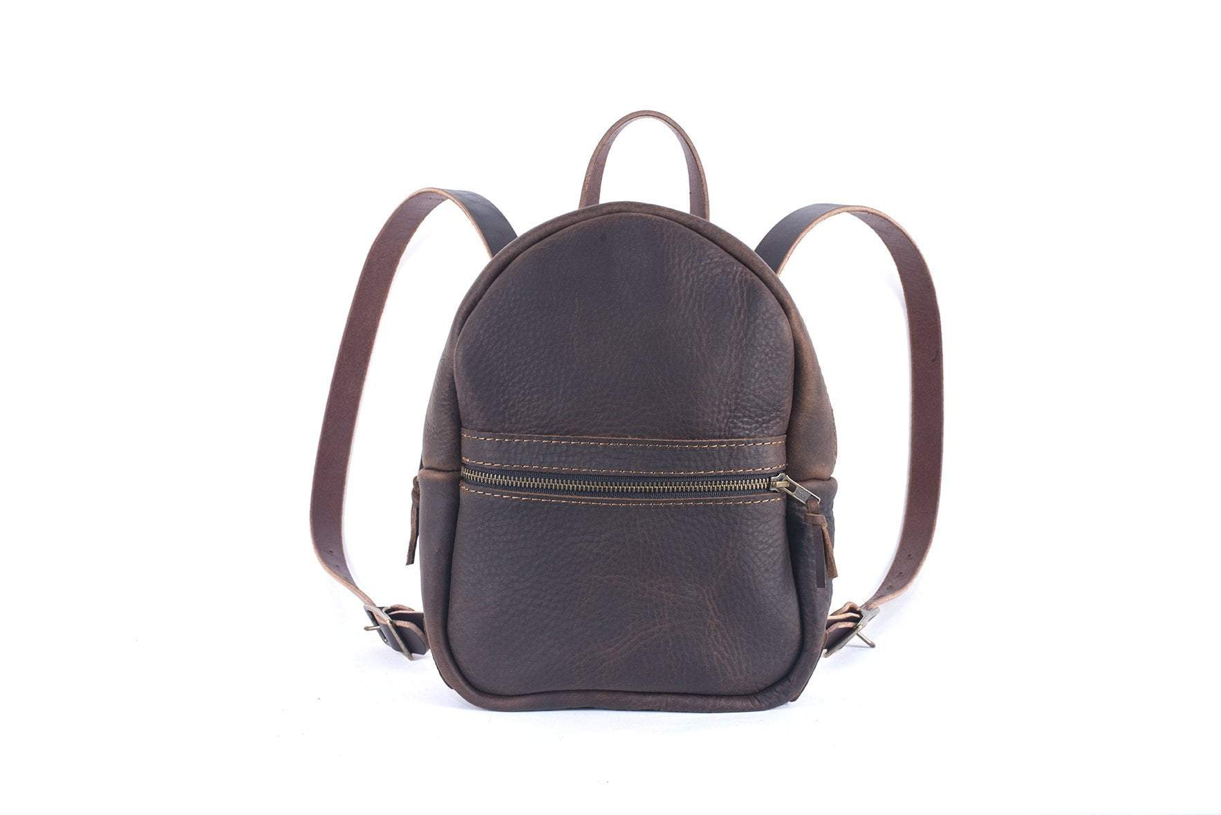 ac6cd51af1 CLASSIC ZIPPERED SMALL LEATHER BACKPACK PURSE - Go Forth Goods