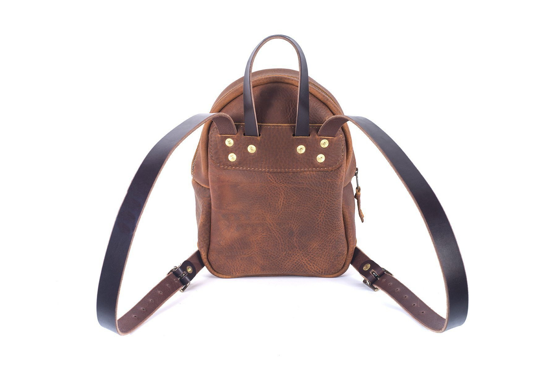 Backpack purse in Saddle color leather Image t 3add76c525468