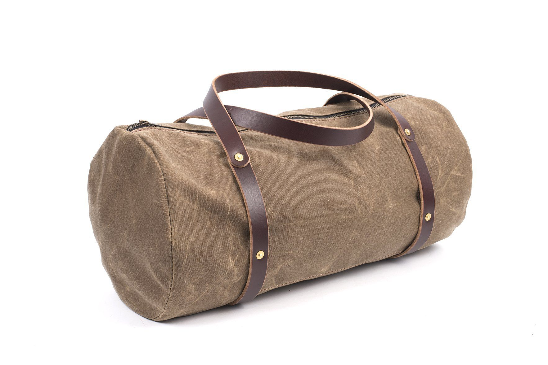 7408208478a3 WILLIAM WAXED CANVAS WEEKENDER DUFFLE BAG - Go Forth Goods