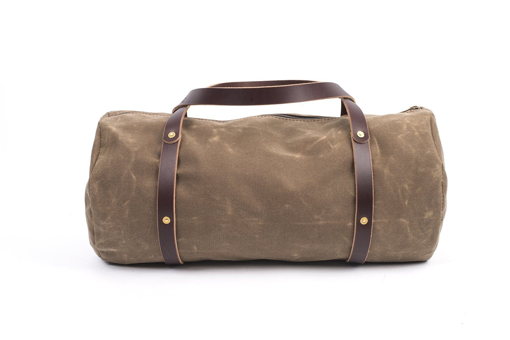 d287d9a9d9c94 WILLIAM WAXED CANVAS WEEKENDER DUFFLE BAG - Go Forth Goods