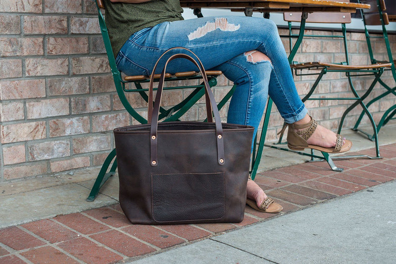 AVERY LEATHER TOTE BAG - LARGE DELUXE
