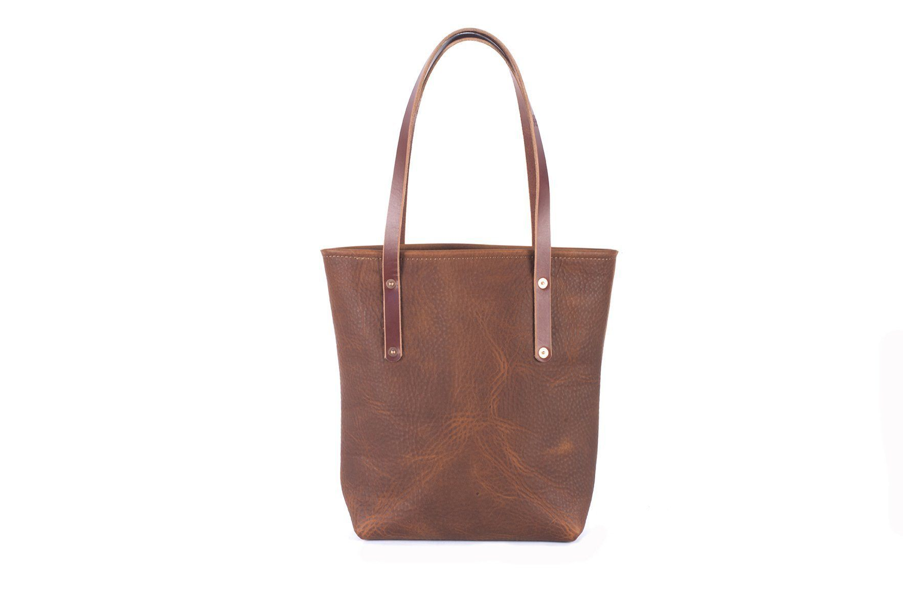 AVERY LEATHER TOTE BAG - SLIM MEDIUM