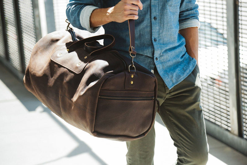 EXPEDITION LEATHER DUFFLE BAG