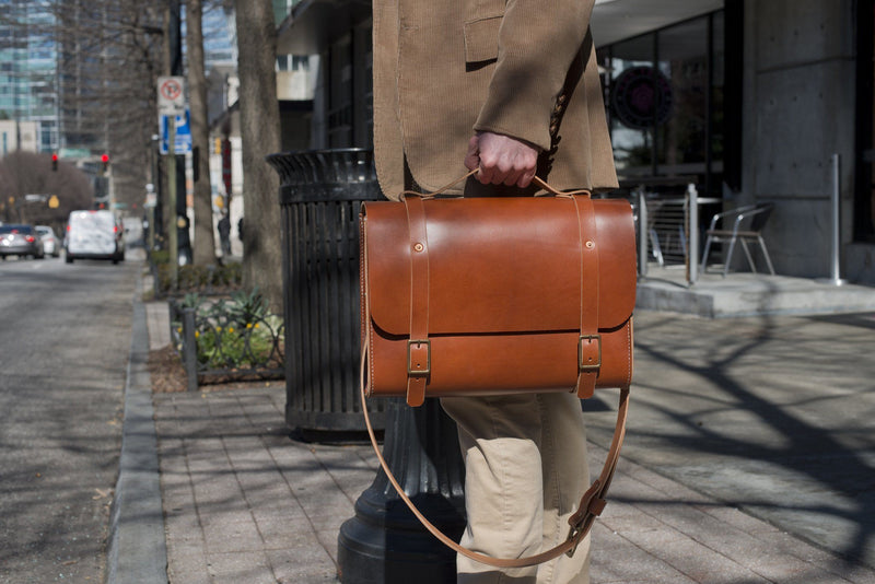 COOPER SATCHEL - LEATHER SATCHEL / BRIEFCASE