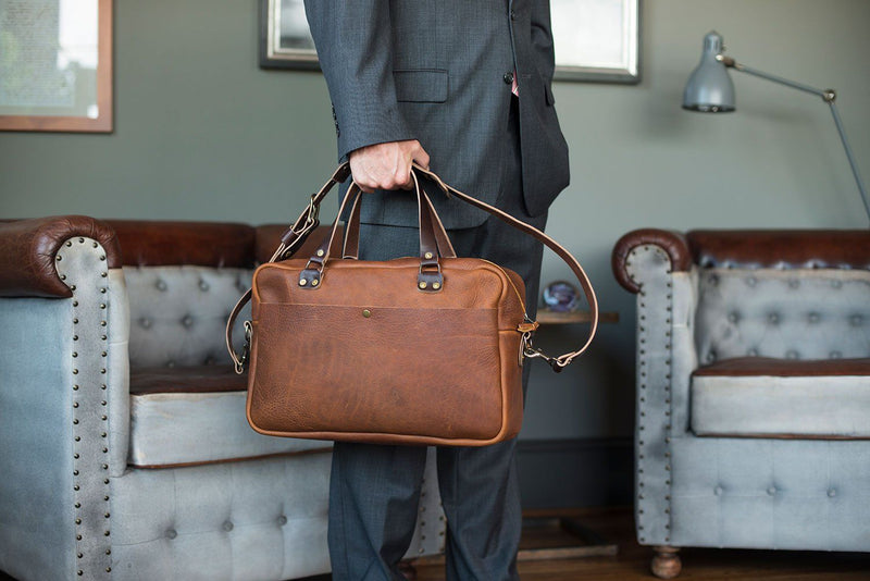 HARRIS LEATHER BRIEFCASE