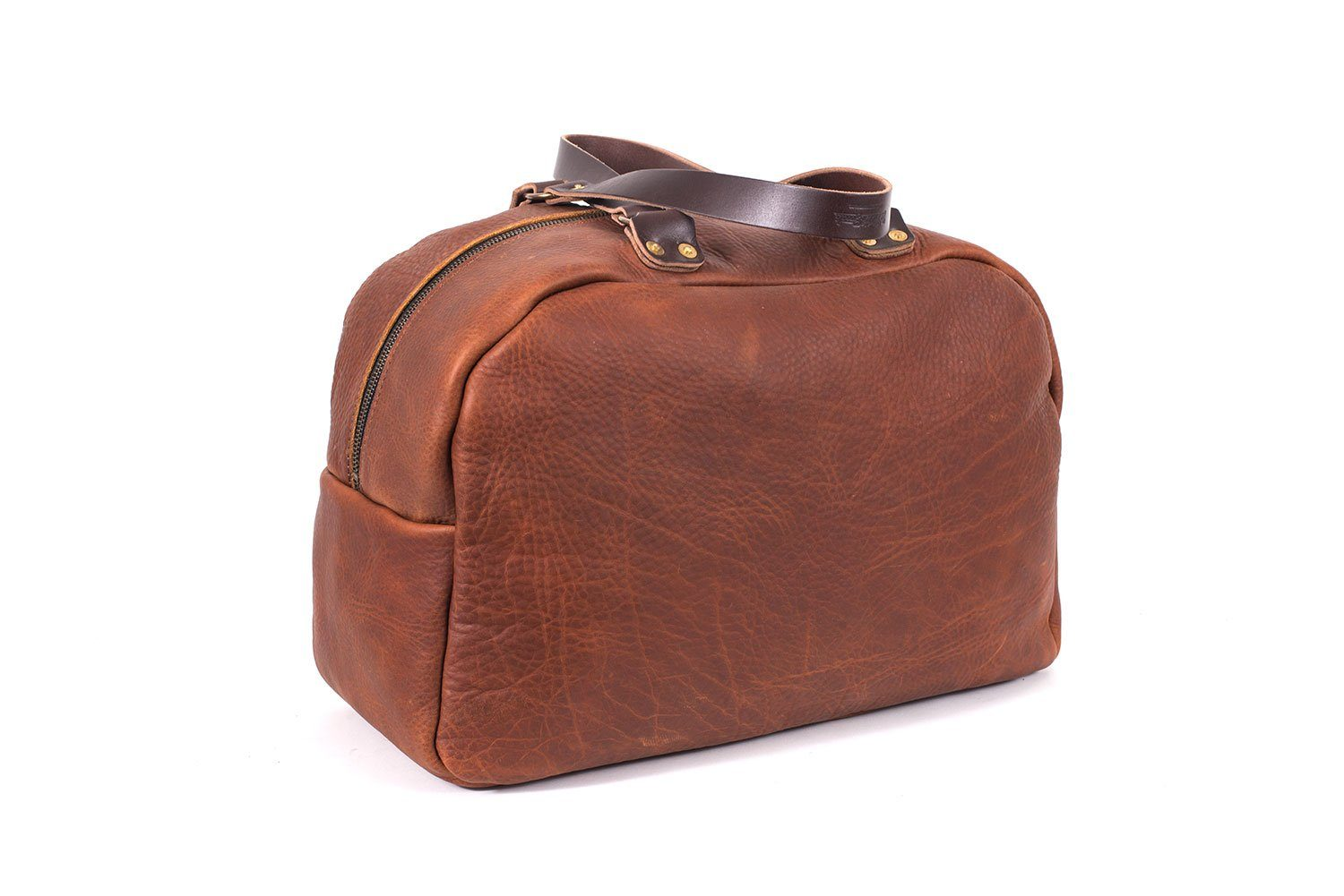 HOFFMAN LEATHER WEEKENDER DUFFEL BAG