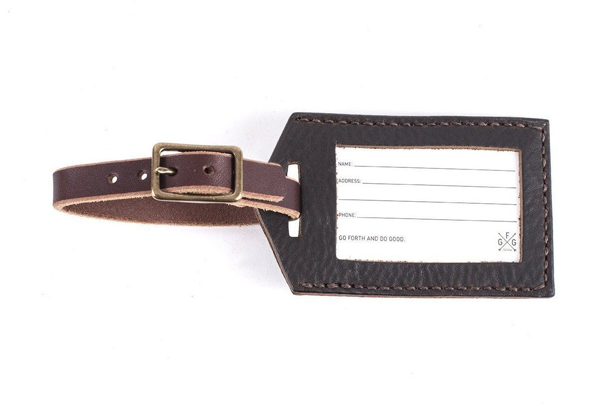 LUGGAGE TAG IN LEATHER