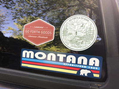 ADVENTURE GO FORTH AND DO GOOD GREEN ROUND STICKER